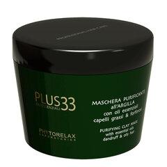 Māla maskas galvas ādas un matu tīrīšanai Phytorelax Plus 33 Maschera Purificante All'Argilla 200 ml