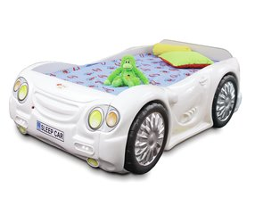 Gulta ar matraci Sleep Car, balta