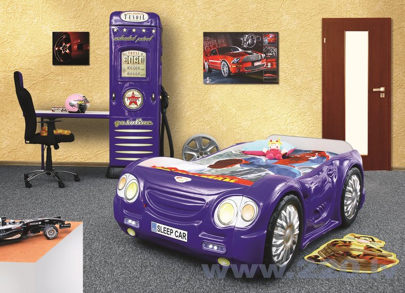 Gulta ar matraci Sleep Car, zila
