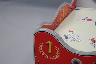 Gulta ar matraci ZigZak, 160 x 80 cm, sarkana cena un informācija | Bērnu gultas | 220.lv