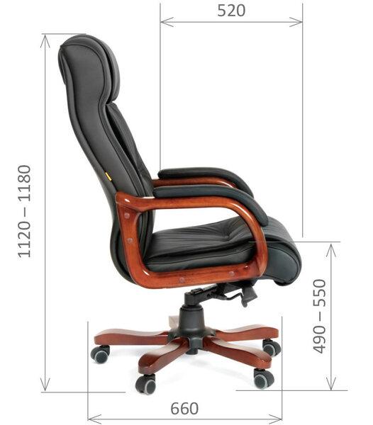 Офисное кресло Chairman 653, черное дешевле