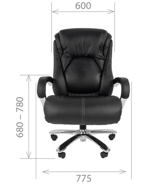 Biroja krēsls Chairman 402, melns atsauksme