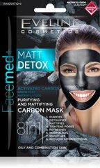Очищающая маска для лица Eveline Facemed+ Matt Detox 8 in 12x5 мл