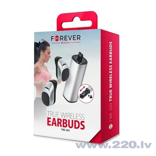 Forever TWE-200 Premium Bluetooth 4.1 Airbuds With Charging case Silver