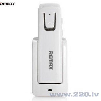Remax RB-T6C Car Multipoint / HD Balss / A2DP / Bluetooth 4.1 Wireless Headset EarPhone with Charging Dock White
