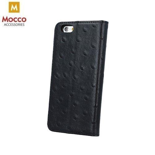 Aizsargmacinš - grāmatiņa Mocco Smart Dots, piemērots Apple iPhone 5 / 5S / SE, melnā krāsā