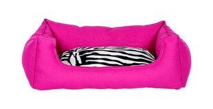 Amibelle mājdzīvnieku guļvieta ar spilvenu, rozā 40 x 50 x 12 cm
