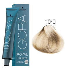 Краска для волос Schwarzkopf Professional Igora Royal Highlifts 60 мл, 10-0 Ultra Blonde Nature