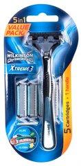 Skuveklis Wilkinson Sword Xtreme 3 Hybrid + 5 asmeņi vīriešiem cena un informācija | Kosmētika un skūšanās līdzekļi | 220.lv