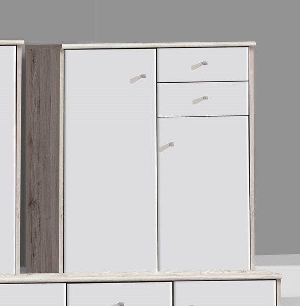 Skapītis Tempra KK50, balts/ozola krāsa