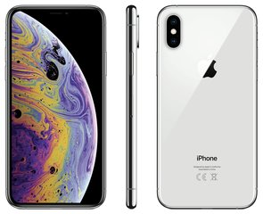 Apple iPhone Xs, 64 GB, sudraba