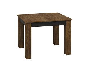 Paplašināms galds Shelve 14, melns/ozola krāsas