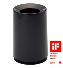 Japāņu atkritumu tvertne Ideaco Tubelor, 6L, melna (glancēta)