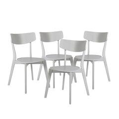 4 krēslu komplekts Balloon, pelēks cena un informācija | Virtuves un ēdamistabas krēsli | 220.lv