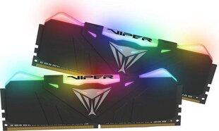 Patriot VIPER RGB DDR4 16GB DUAL KIT (2x8GB) 2666MHz CL15 Black Radiator (PVR416G266C5K) cena un informācija | Operatīvā atmiņa (RAM) | 220.lv