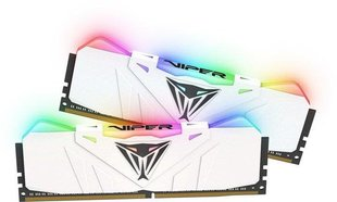 Patriot VIPER RGB DDR4 16GB DUAL KIT (2x8GB) 3200MHz CL16 White Radiator (PVR416G320C6KW) cena un informācija | Patriot VIPER RGB DDR4 16GB DUAL KIT (2x8GB) 3200MHz CL16 White Radiator (PVR416G320C6KW) | 220.lv