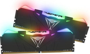 Patriot VIPER RGB DDR4 16GB DUAL KIT (2x8GB) 4133MHz CL19 Black Radiator (PVR416G413C9K) cena un informācija | Patriot VIPER RGB DDR4 16GB DUAL KIT (2x8GB) 4133MHz CL19 Black Radiator (PVR416G413C9K) | 220.lv