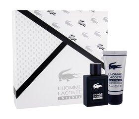 Komplekts Lacoste L'Homme Intense vīriešiem: EDT 50 ml + balzams pēc skūšanās 75 ml цена и информация | Мужские духи | 220.lv