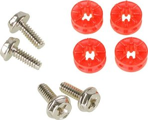 Lamptron HDD screws with rubber washers - Red (LAMP-RS7003)