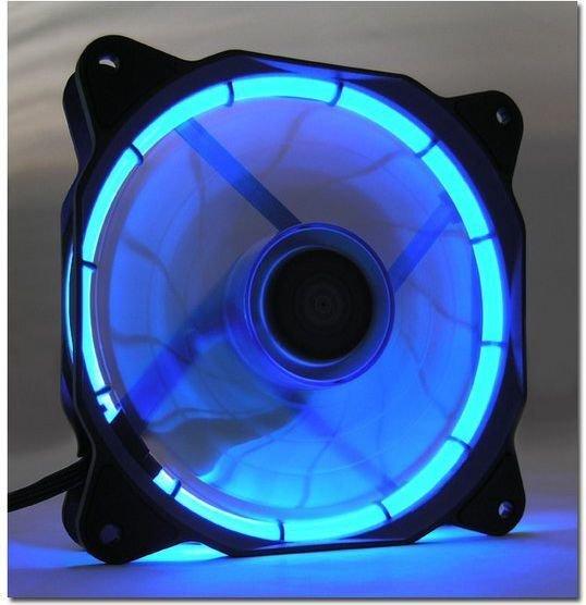 LC-Power AiRazor Black Series PWM 120mm Blue-LED (LC-CF-120-TUBE-B) internetā