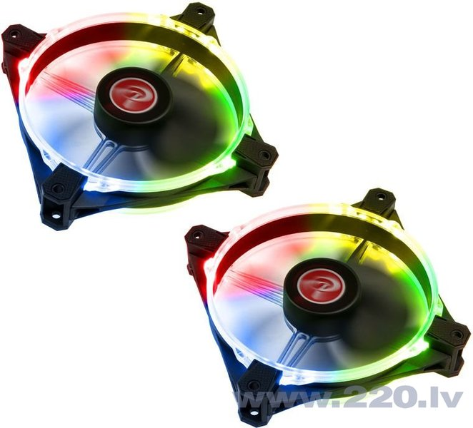Raijintek Fan Macula 12 Rainbow RGB-LED, 120mm, 2 pcs (0R400058)