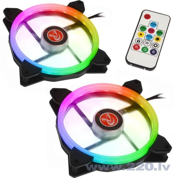 Raijintek IRIS 14 Twin Pack Rainbow RGB (0R400049)