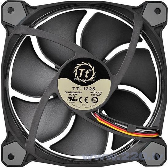 Thermaltake Fan Riing 12 LED, 120mm, 3 pcs, White (CL-F055-PL12WT-A) atsauksme