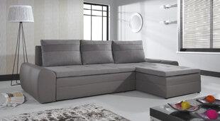 Universāls mīkstais stūra dīvāns Fan, pelēks