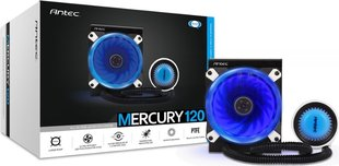 Antec Mercury 120, 120mm AIO LED CPU Water Cooler (0-761345-10983-3)