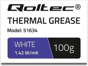 Qoltec Thermal grease 1.42 W / m-K | 100g | White (51634)