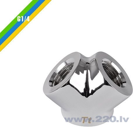 """Thermaltake Pacific G1/4"""" Y Chrome Adapter (CL-W054-CU00SL-A) cena"""