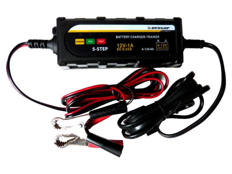 Automātisks 5 pakāpju akumulatoru lādētājs Dunlop cena un informācija | Akumulatoru lādētāji | 220.lv