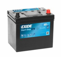 Akumulators EXIDE EL604 60 Ah 520 A