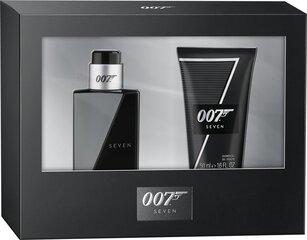 Komplekts James Bond 007 Seven vīriešiem: tualetes ūdens EDT 30 ml + dušas želeja 50 ml