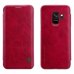 Nillkin Qin ādas maciņš telefonam Samsung Galaxy S9 Plus G965 sarkans