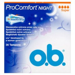 Tamponi O.B. ProComfort Night Super 36 gab.