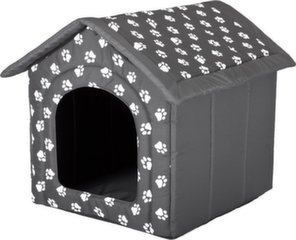 Hobbydog gulta - mājiņa 60x60x55 cm, pelēka