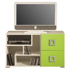 TV galdiņš Labirynt System 10, krēmkrāsa/zaļš cena un informācija | TV galdiņi | 220.lv
