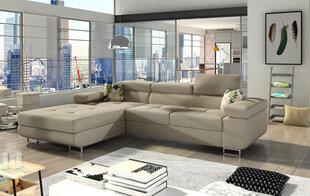 Mīksts stūra dīvāns Armando, gaiši brūns cena un informācija | Dīvāni un krēsli | 220.lv