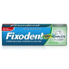 Protēžu krēms bez aromāta Fixodent Neutral Complete Denture Adhesive Cream 47 g