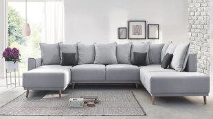 Stūra dīvāns BoboChic Mola XXL, pelēks cena un informācija | Stūra dīvāni | 220.lv