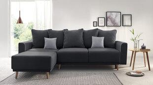 Mīksts stūra dīvāns Mola, tumši pelēks cena un informācija | Stūra dīvāni | 220.lv