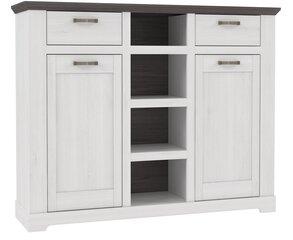 Комод Gasparo GRLK331, белый цена и информация | Комоды, ночные шкафчики | 220.lv