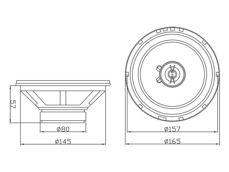 Automašīnas skaļruņi Blow S-165 4Ohm / 30-603 cena