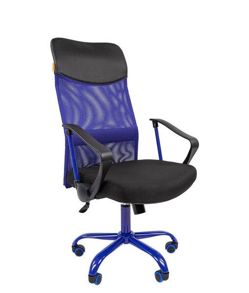 Офисный стул Chairman 610CMet, черный/синий