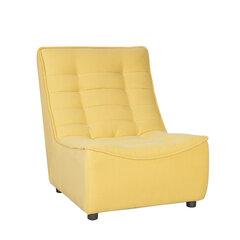 Krēsls Concord, 87x72x98 cm, dzeltens cena un informācija | Dīvāni un krēsli | 220.lv