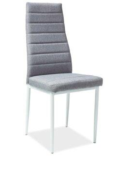 4 krēslu komplekts H-266, balts/pelēks