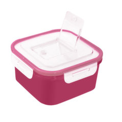 BRANQ pārtikas uzglabāšanas trauks Q-lock, 700 ml, rozā