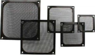InLine Fan Grill Aluminum Filter 60x60mm black (33376S)