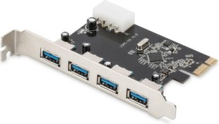 Digitus Expansion card/Controller USB 3.0 PCI Express, 4xUSB 3.0, Chipset: VL805-DS-30221-1